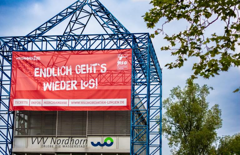 HSG Banner an der VVV in Nordhorn