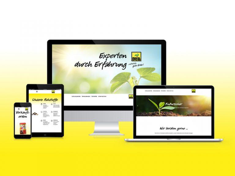 Werbeagentur Nordhorn, Website für Brill Substrate Mockup