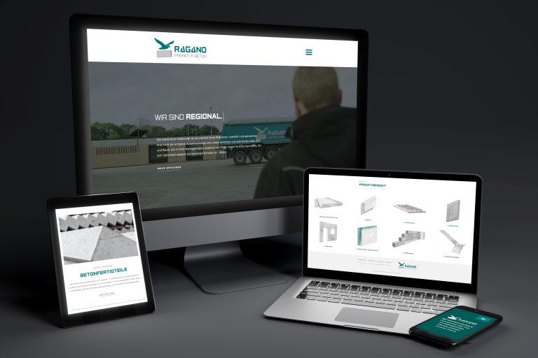 Werbeagentur Nordhorn, Website für RAGANO